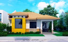 Bungalow House Designs And Floor by Modern Bungalow House With 3d Floor Plans And Firewall Pinoy