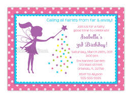 Birthday Card Invitations Ideas Fairy Birthday Invitations Reduxsquad Com