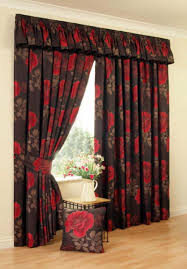 beige floral pattern tall window curtain techethe com