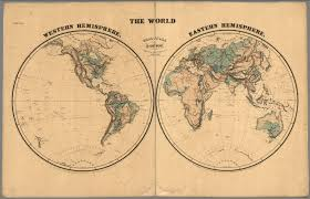 Blank Map Of Eastern Hemisphere by The World Western Hemisphere Eastern Hemisphere David Rumsey