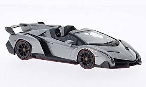 lamborghini smart car amazon com lamborghini veneno metallic grey model car ready
