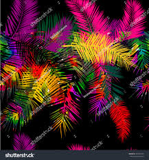 background rainbow colored palms trees vector stock vector