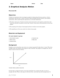3 graphical analysis motion s