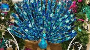 Peacock Decorations by Christmas Decorations Amazing Peacock Youtube
