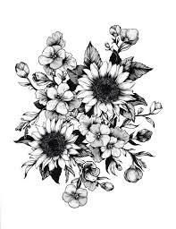 drawing design tattoos flower flowers idea drawings