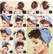 how to wear a bandana with short hair vintage pin up hairstyle community vintage and rockabilly