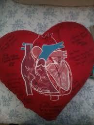 the heart pillow she got when she had open heart surgery weird