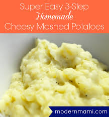 easy 3 step cheesy mashed potatoes recipe cheesy mashed