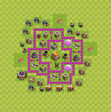 coc map layout th6 clash of clans best plans layouts plan town hall level 6 th 6