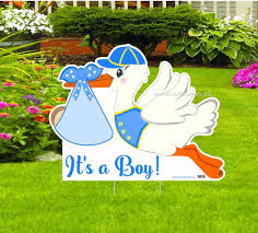 decorations a boy yard stork sign welcome home new baby lawn