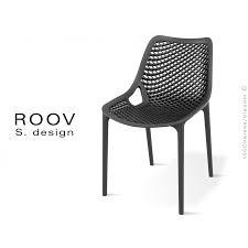 chaise pour chaise pour terrasse et extérieur roov structure plastique couleur
