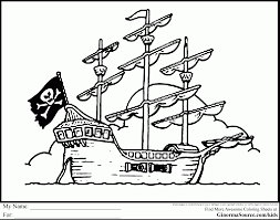fabulous pirate ship coloring pages jake neverland