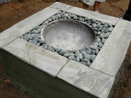 how to make a fire glass pit how to make a concrete fire feature how tos diy