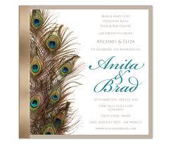Creative Indian Wedding Invitations Peacock Wedding Invitations Obniiis Com