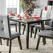 Mid Century Modern Dining Room Furniture by Furniture Of America Bradensbrook Mid Century Modern Style Grey