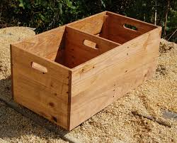 rolling wooden crate with divider looney bin toy storage