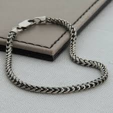 sterling silver snake chain bracelet images Sterling silver men 39 s snake chain bracelet hurleyburley jpg