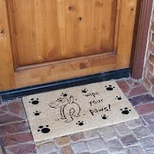 Please Wipe Your Paws Coir Red Barrel Studio Loowit Wipe Your Paws Dog Animal Doormat