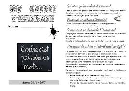 Cahier de lécrivain  Production écrite CE2 CM1 CM2  La Salle