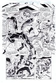 john byrne 1999 spider man ch 1 3 p 2 marvel comic art