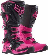 womens pink boots size 11 fox racing pink motorcycle boots ebay