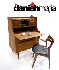 mid century danish teak secretary desk vanity dresser danish mafia