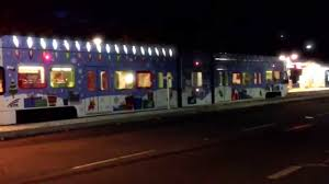 light rail holiday schedule vta lights up the night with flashing design on holiday wrapped