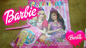 barbie coloring book barbie notebook barbie stickers happy toys