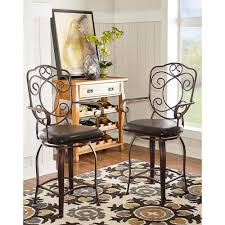 home decorators collection st louis home decorators collection crested back 24 in brown swivel