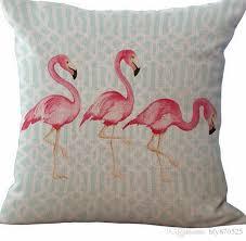 flamingo style home decoration coffee bar decor sofa pillow