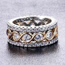 gold coloured rings images Full crystal big wedding rings for women romantic gold color ring jpg