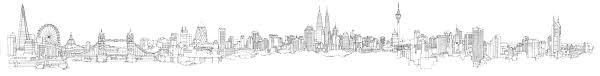 city illustration melbourne london and kuala lumpur