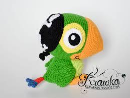 krawka skully parrot jake land pirates etsy pattern