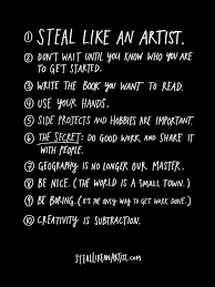 What Are The Parts Of A Book Report Steal Like An Artist A Book By Austin Kleon