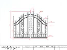 autocad design the process of custom driveway gates from artistic gate concepts