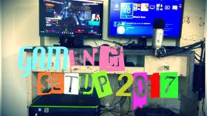 my gaming room setup 2017 youtube