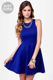royal blue dress racer back dress royal blue dress skater dress 39 00