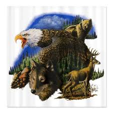 Wolf Curtains Wildlife Shower Curtains Shower Curtains Outlet
