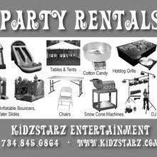 party rentals michigan kidzstarz party rental in ypsilanti michigan 734 845 0864