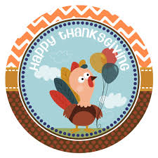 turkey happy thanksgiving stickers for favor labels