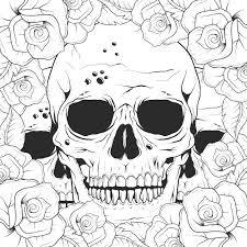 skull background design vector free