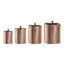 copper kitchen canister sets amici home mauritius hammered canister set of 4