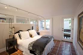 Track Lighting In Bedroom Small Bedroom Illuminated With Track Lighting Fixtures The