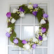 How To Make A Spring Wreath by Pretty Spring Tulip And Moss Wreath Loves Glam