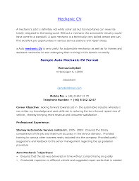 Resume Jobs Objective by 20 Auto Mechanic Resume Examples For Professional Or Entry Level