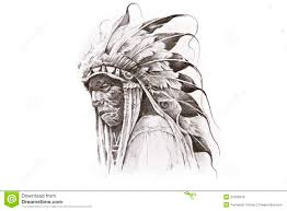 aboriginal clipart indian headdress pencil and in color