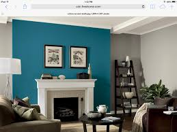 Fireplace Wall Ideas by Gray Walls With Teal Fireplace Accent Wall Iowa Home Pinterest