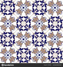 moroccan wrapping paper seamless patchwork pattern from moroccan portuguese tiles in blue