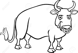 farm animal coloring book black and white cartoon illustration of funny bull farm animal