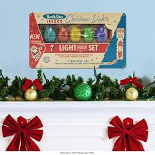 Retro Christmas Lights by North Star Christmas Lights Steel Sign Holiday Signs